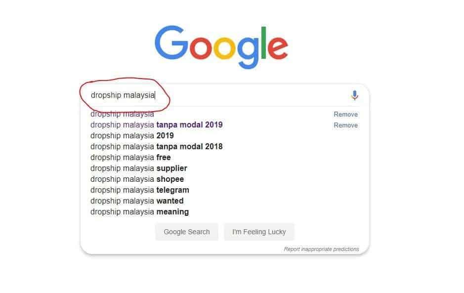 Dropship Malaysia Google