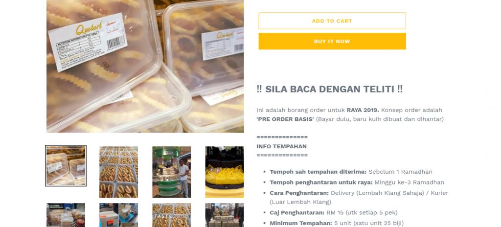 Buat duit online guna platform e-commerce